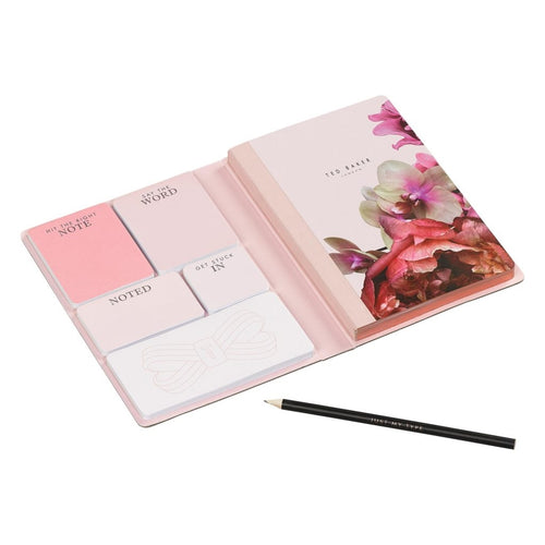 A5 Notebook with Sticky Notes | Black Splendour (1613142327330)