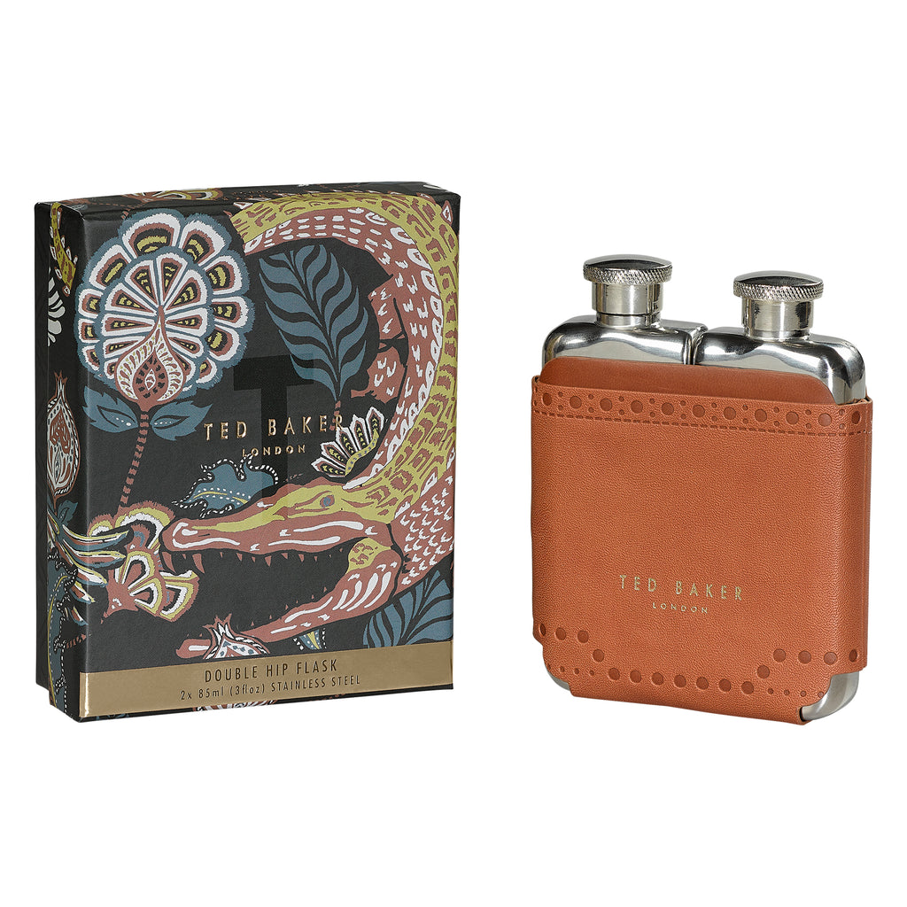 Double Hip Flask | Brown Brogue Kiku