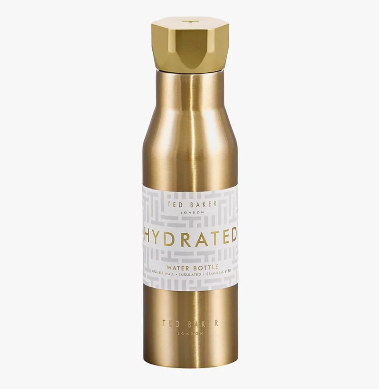 Water Bottle Hexagonal Lid Pale Gold (4419990749258)