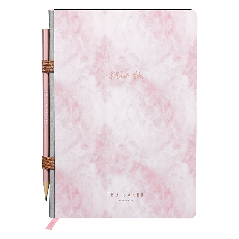 A5 Notebook & Pencil | Rose Quartz