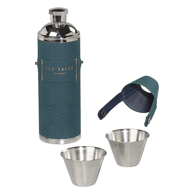 Hip Flask with Shot Cups | Teal (1543448657954)