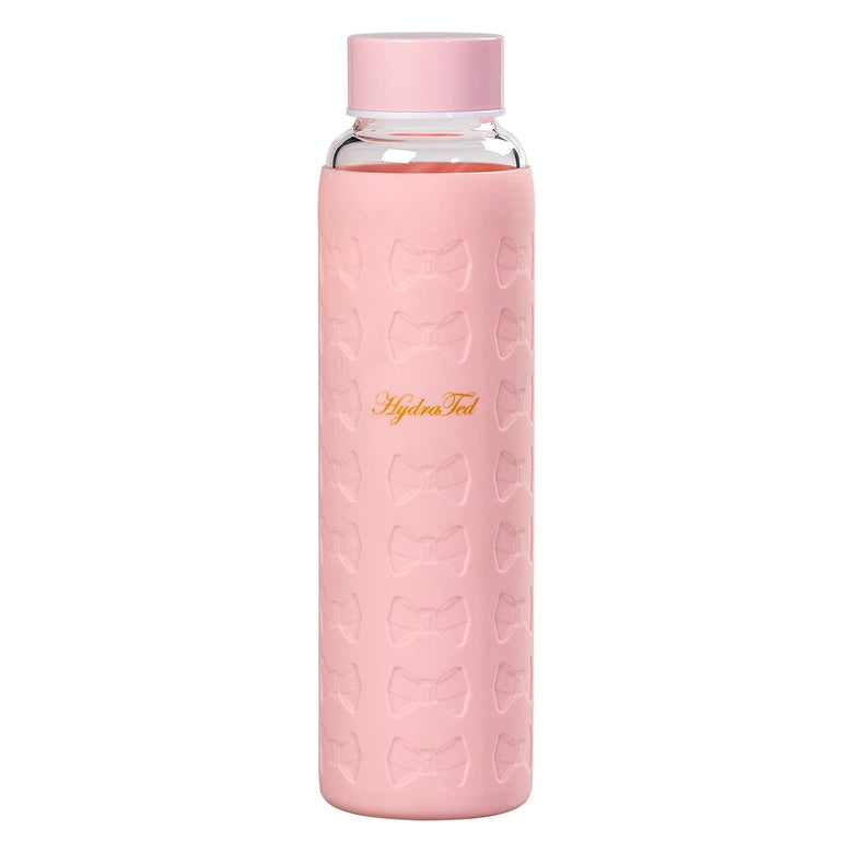 Glass Water Bottle with Silicon Sleeve | Pink