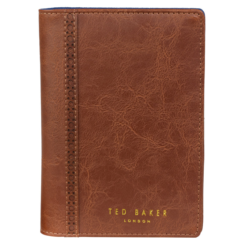 Travel Wallet & Pen | Brown Brogue (197176131595)