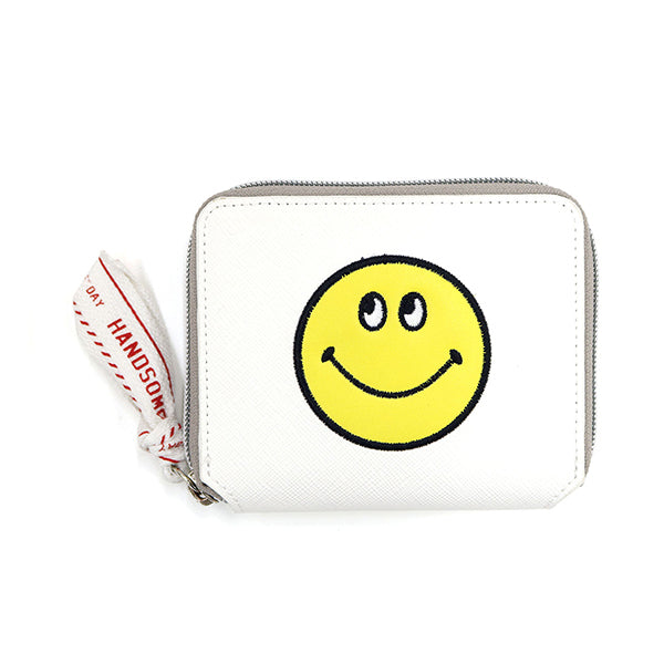 Smiley | Lined Wallet | White (1794363097122)