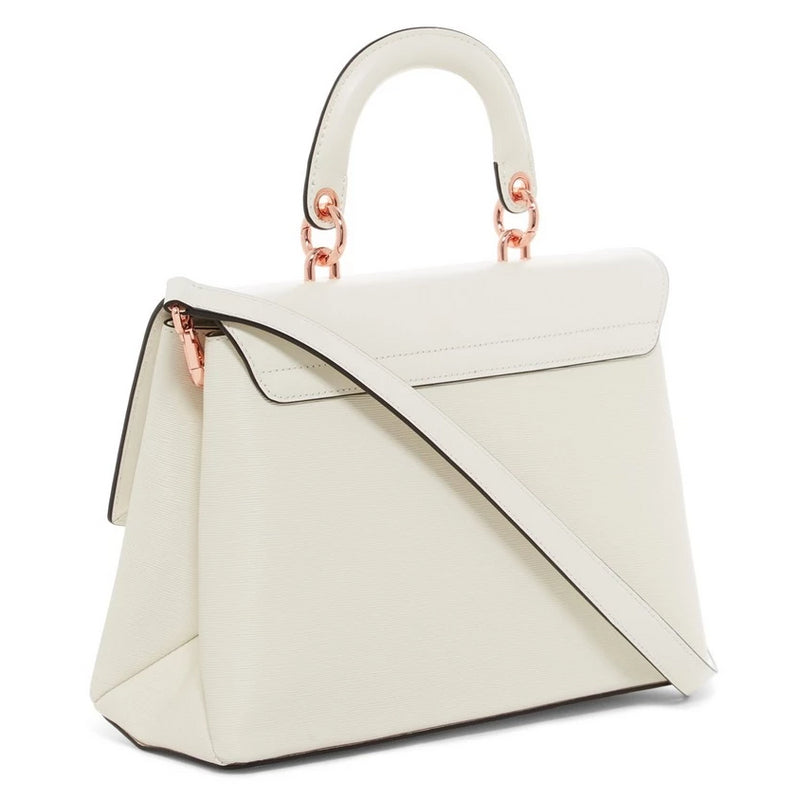 Curved Bow Lady Bag | Ivory (3836354756642)