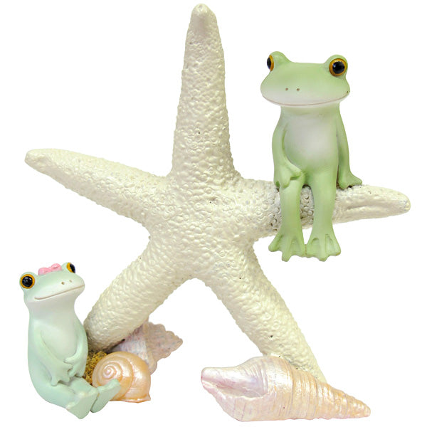 Copeau Display | 71730 | Frog Couple on Starfish (1375390531618)