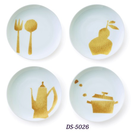 Japanese Plate Set | Golden Pattern Design | 正價