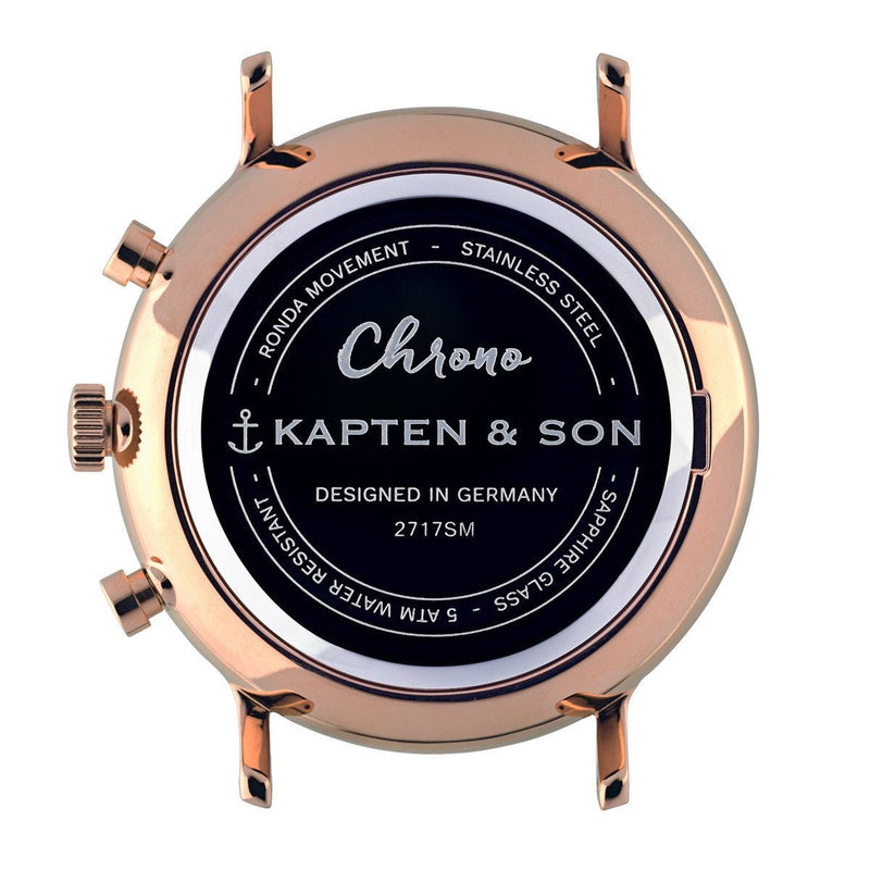 Kapten & Son | Chrono Watches | Rose Woven Leather (4579422371914)