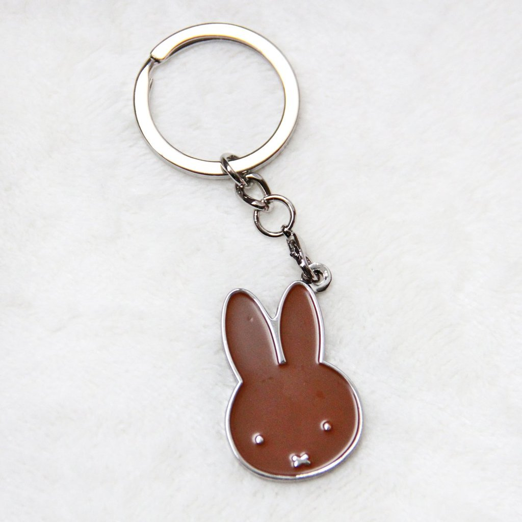 Miffy | Badge Keychain | Brown