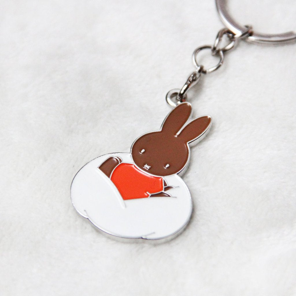 Miffy | Badge Keychain | Orange Clothes