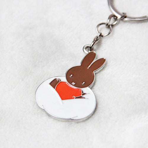 Miffy | Badge Keychain | Orange Clothes (1777536270370)