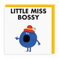 Mr Men Cards | Little Miss Bossy