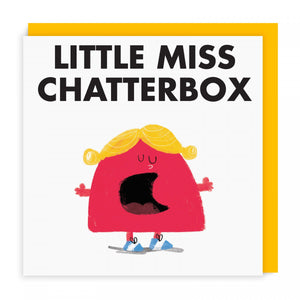 Mr Men Cards | Little Miss Chatterbox