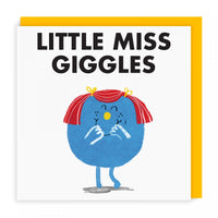 Mr Men Cards | Little Miss Giggles