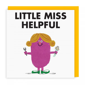 Mr Men Cards | Little Miss Helpful