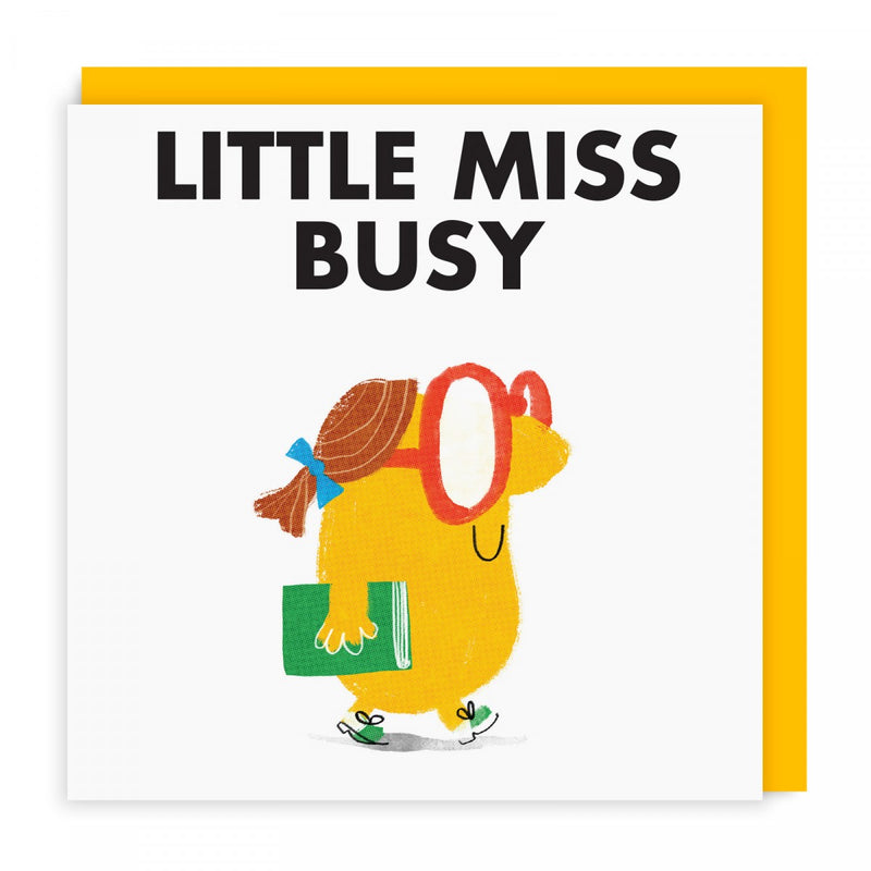 Mr Men Cards | Little Miss Busy