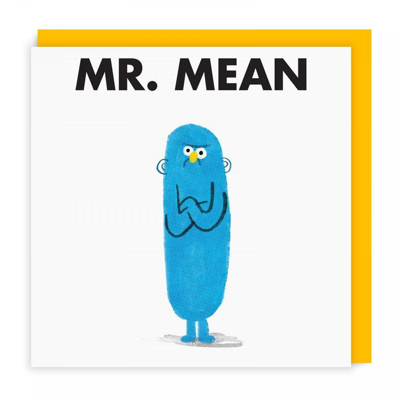 Mr Men Cards | Mr Mean