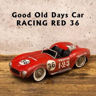 Vintage Deco | Good Old Days Car | Racing Red 36 (4661277589578)