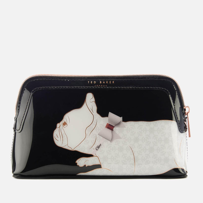 Cotton Dog PVC Makeup Bag | Black