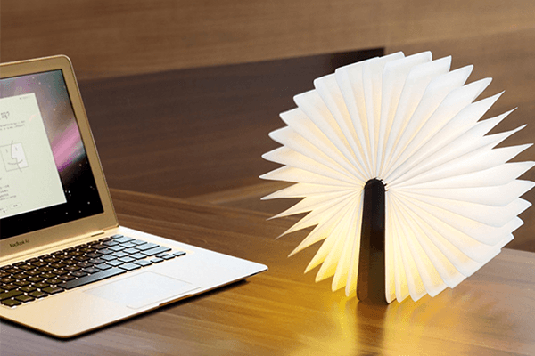 Grimoire Wooden Lamp A Gadget