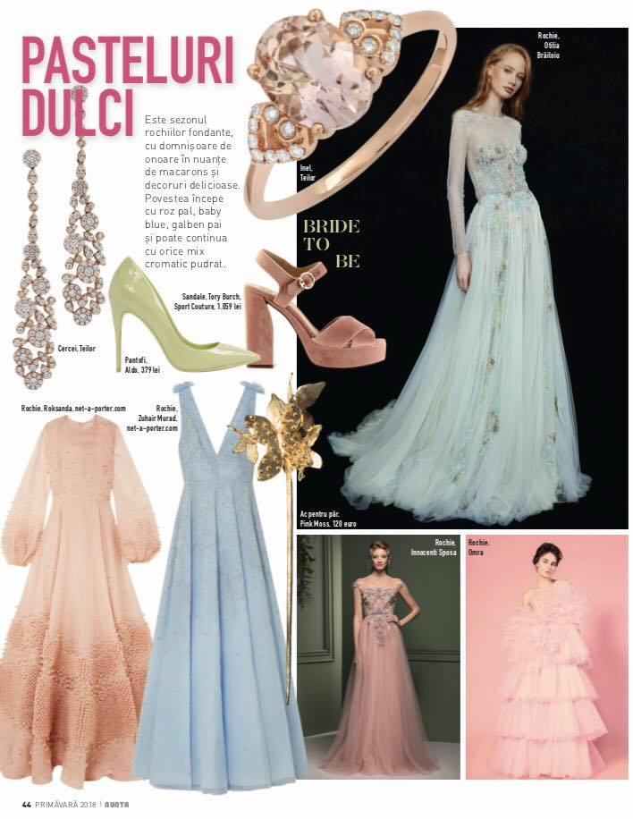 OMRA CANDY dress featured in Revista NUNTA