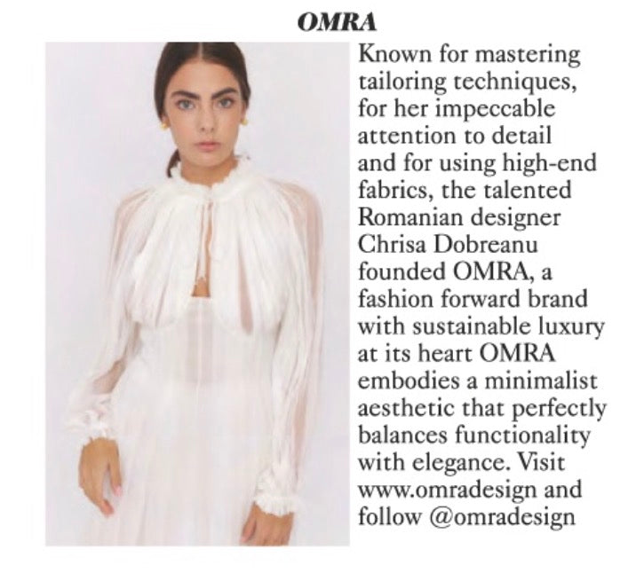 OMRA featured in British Vogue