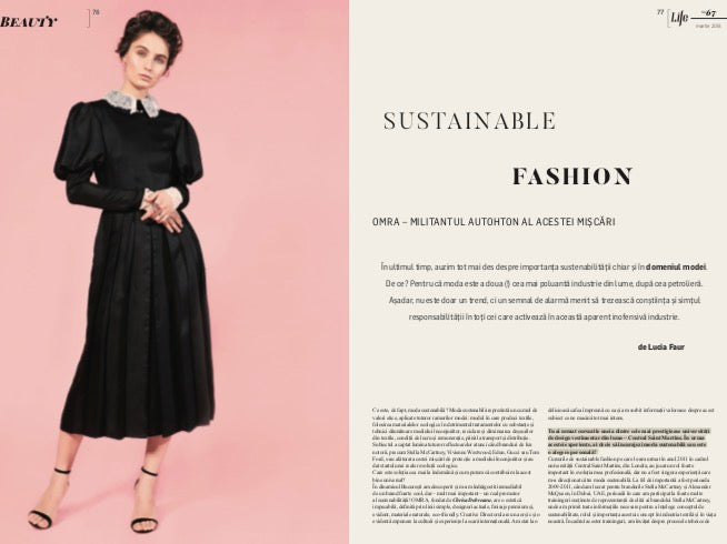 OMRA sustainable fashion brand featured in Forbes Life Magazine