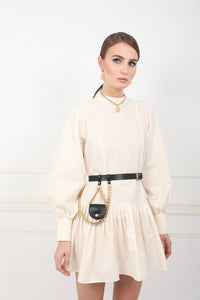 CUSCO leather belt bag with coins slot and golden long chain
