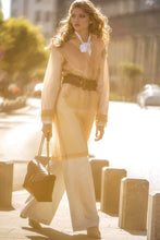 Sheer nude tulle trench