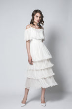 Positano silk ruffled dress