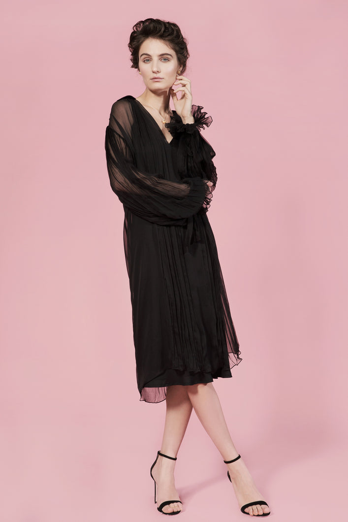 Malvina silk chiffon dress