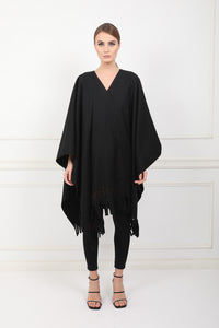 Celestial woolen embroidered PONCHO