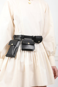 CUSCO Multifunctional Leather Belt Bag by OMRA