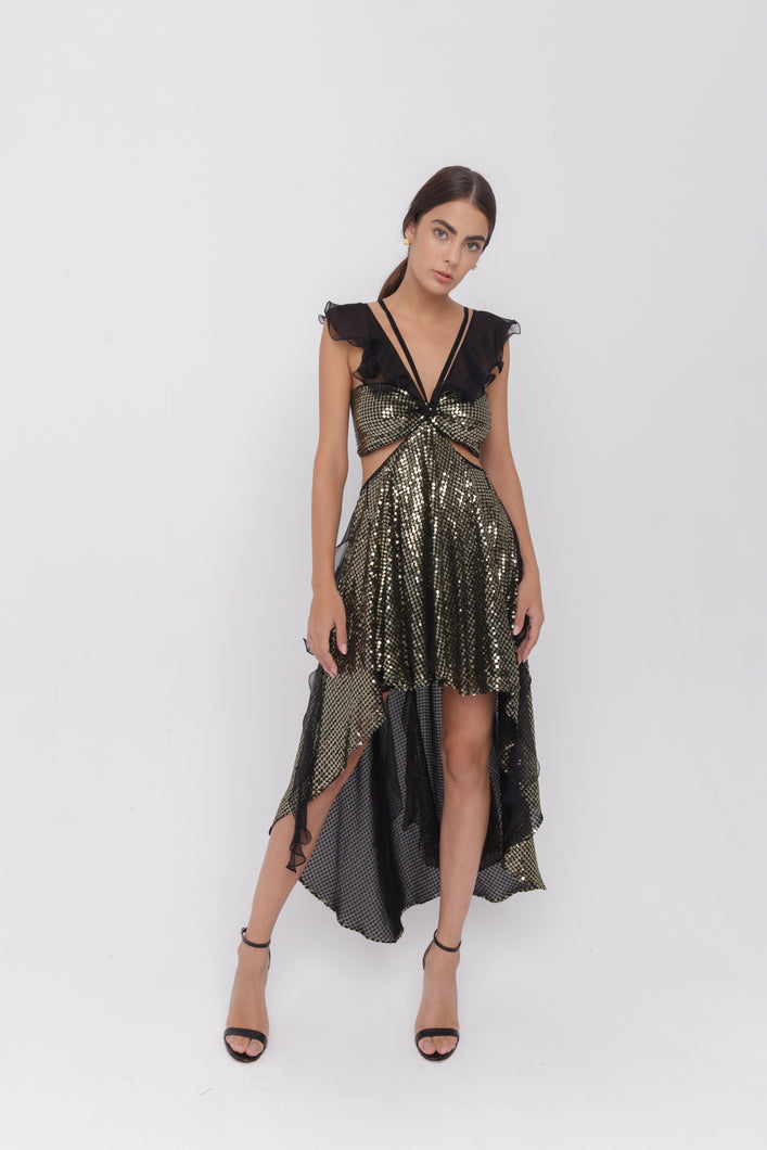 Scorpios sequins ruffles dress
