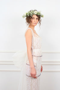 Josephine lace beaded couture dress