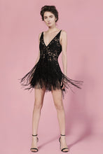 Margot lace fringe dress