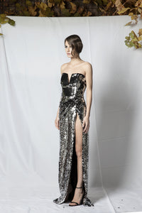 MS1 sequin evening dress