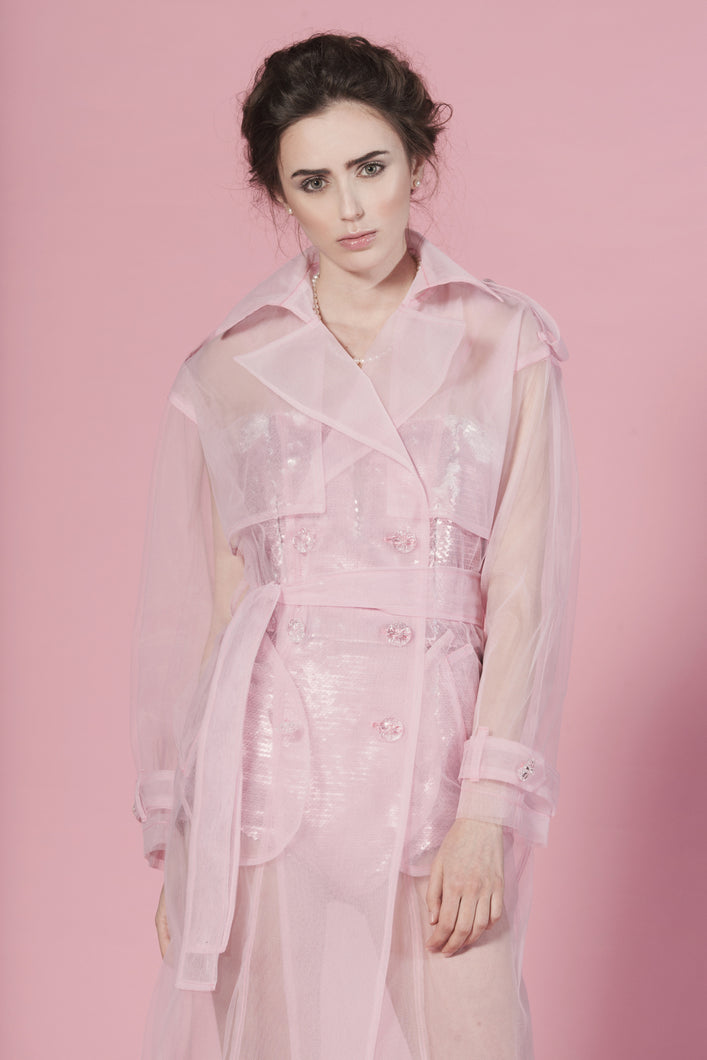 Candy tulle trench