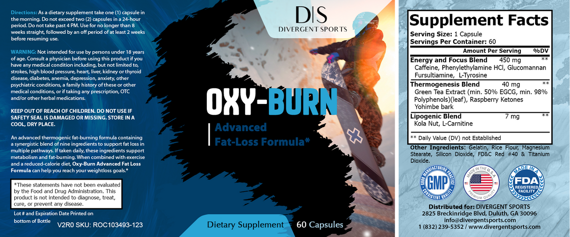 Oxy-Burn Advanced Weight Loss Fat Burner | Divergent Sports