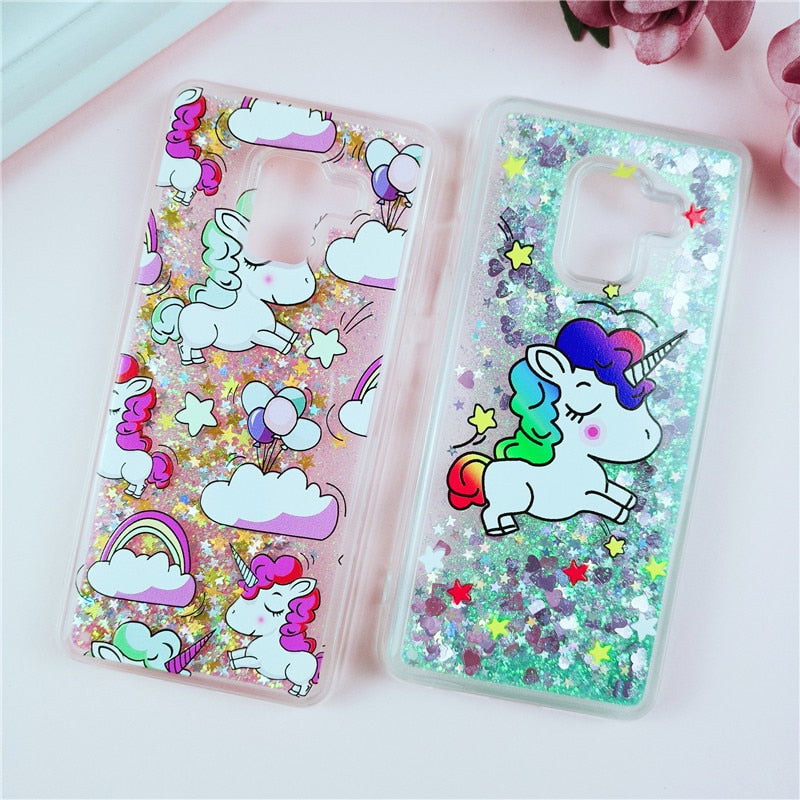 Unicorn Liquid Glitter Quicksand Cases For Samsung Galaxy Series