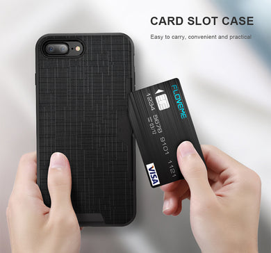Luxury Wallet FLOVEME Card Slot Phone Case For iPhone  6 6s 7 8 Plus