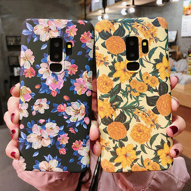 Fashion Retro Oil Painting Flowers Case For Samsung Galaxy Series