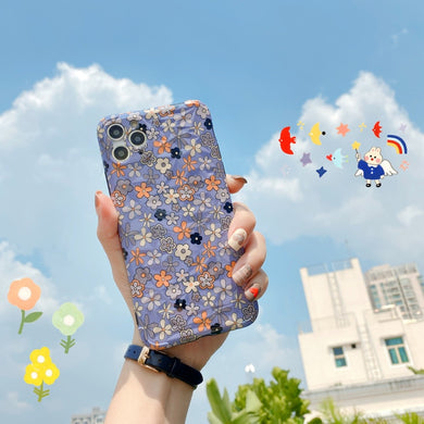 3D Vintage Floral Pattern Soft Case For iPhone Series