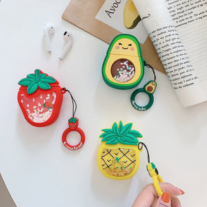 Cartoon Strawberry Avocado Pineapple Case For AirPods