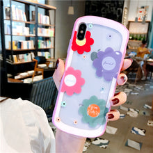 画像をギャラリービューアに読み込む, Cute Arc Flowers Tempered Glass Case For iPhone Series
