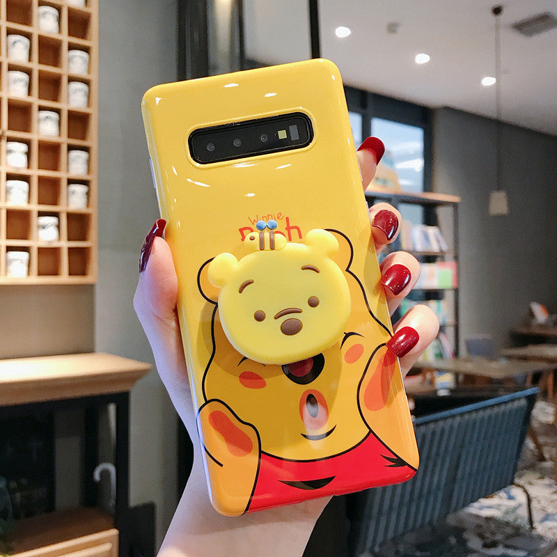 competitive price 6ddbe e1895 Winnie&Stitch Case with Pop Socket for Samsung Galaxy S8 S10 Plus Note 8 9