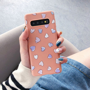 Fashion Heart Daisy Flower Case For Samsung Galaxy Series