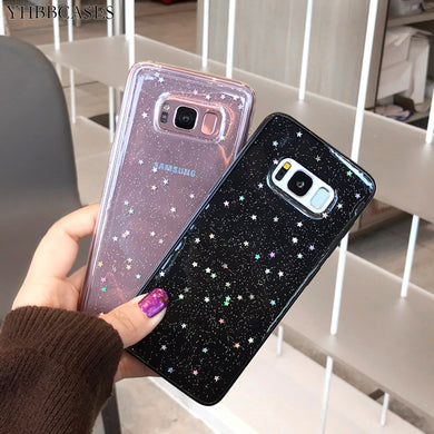 Glitter Bling Stars Sequins Sparkle Powders Case For Samsung Galaxy Series