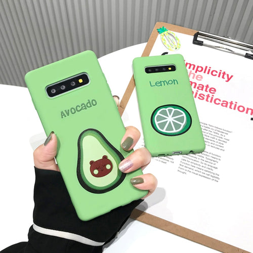 Cartoon Green Avocado Lemon Cases For Samsung Galaxy Series