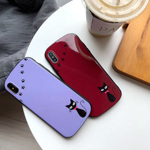 Fashion Online Celebrity Cat Arc Case For iPhone Series